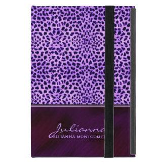 豊富な紫色のチータのアニマルプリント iPad MINI ケース