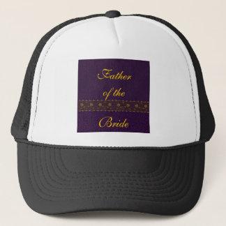 豊富な紫色の結婚式 キャップ