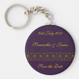 豊富な紫色の結婚式 キーホルダー