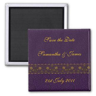 豊富な紫色の結婚式 マグネット