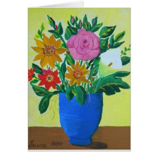 豊富な花束 カード