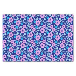 豊富な青く、ピンクの花パターン日本のなプラム 薄葉紙