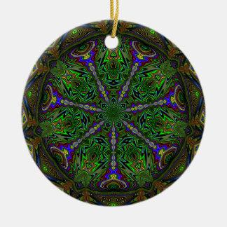 豊富のクリスマスのオーナメント 陶器製丸型オーナメント