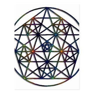 豊富の生命の神聖な幾何学のフラクタル ポストカード