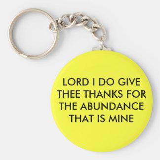 豊富のTHへのI GIVE THEE主の感謝… キーホルダー
