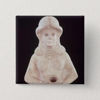豊饒の女神、マリから、中間のユーフラテス 5.1CM 正方形バッジ