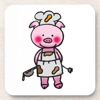 豚のようなシェフ コースター