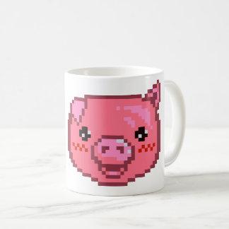 豚のようなピクセル芸術 コーヒーマグカップ