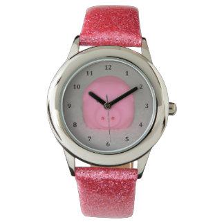 豚のようなピンクのブタ 腕時計