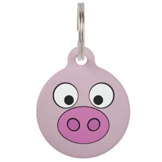 豚のような顔 ペット ネームタグ