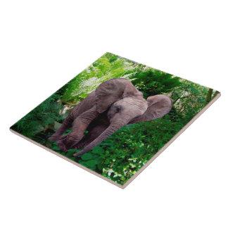 象およびジャングル タイル
