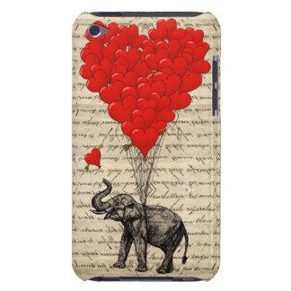 象およびハート形の気球 BARELY THERE iPod カバー