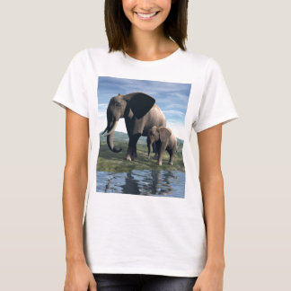 象およびベビー Tシャツ