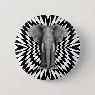 象および光学パターンデザインの道化パターン 5.7CM 丸型バッジ