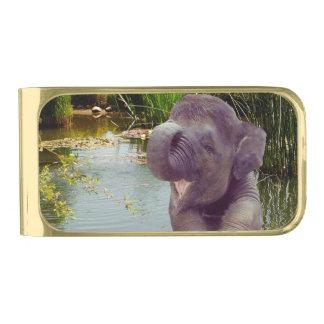 象および水 ゴールド マネークリップ