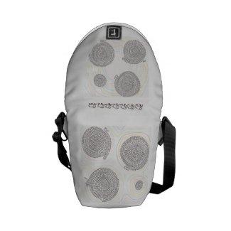 象と算数曼荼羅バッグ メッセンジャーバッグ