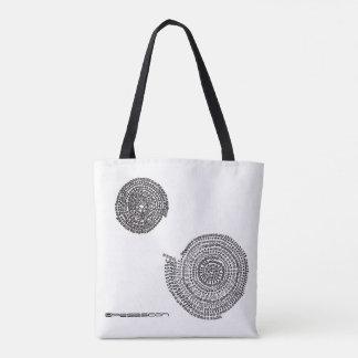 象と素数と算数曼荼羅 トートバッグ