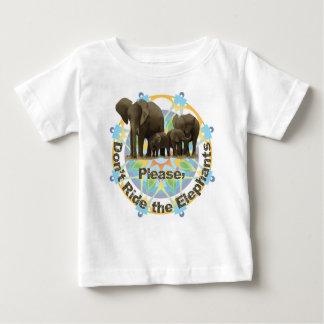 象に乗らないで下さい ベビーTシャツ