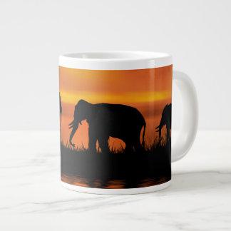 象のサファリのジャンボマグ ジャンボコーヒーマグカップ