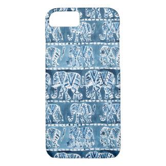 象のサファリのBohoの種族のインディゴ iPhone 8/7ケース