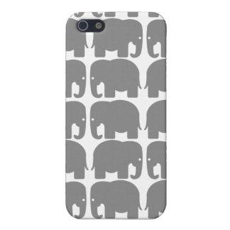 象のシルエットのSpeckの灰色箱 iPhone 5 カバー