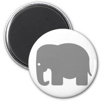 象のシルエット マグネット