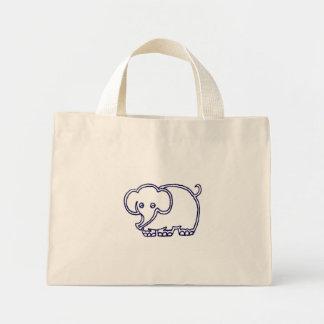 象のストライプのバッグ ミニトートバッグ