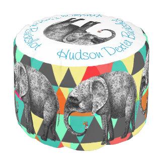 象のダマスク織の抽象芸術の立方体の芸術 プーフ