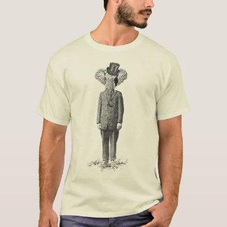 象のダンディな人 Tシャツ