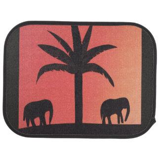 象のデザインのカーマット カーマット