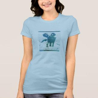 象のデザインの心地よいティー Tシャツ