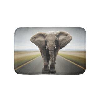 象のトラック運転手のバス・マット バスマット