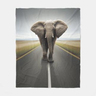 象のトラック運転手のフリースブランケット フリースブランケット