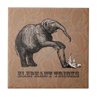 象のトリック-おもしろいなサーカスのPachyderm タイル