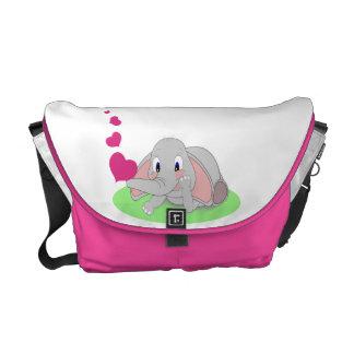 象のハート メッセンジャーバッグ