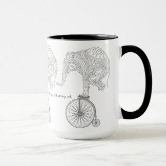 象のバランスの黒15のozの信号器のマグ マグカップ