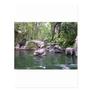 象のパーティーの時間 ポストカード