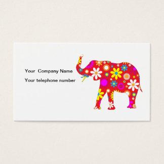 象のファンキーなレトロの花のカスタムな名刺 名刺