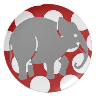 象のプレート プレート