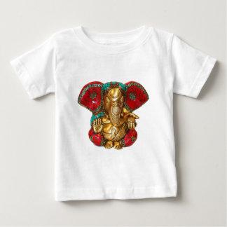 象のヘッド真鍮の彫像のインドのヒンズー教の寺院の芸術 ベビーTシャツ