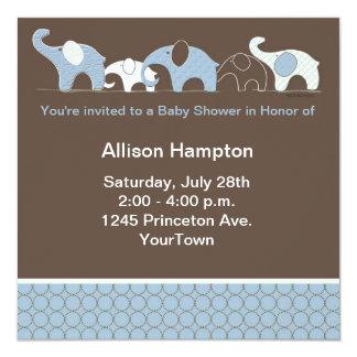 象のベビーの招待状 カード