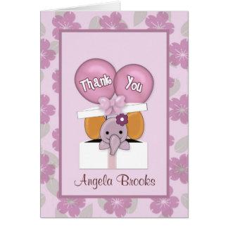 象のベビーシャワーCJの蘭はメッセージカード感謝していしています カード