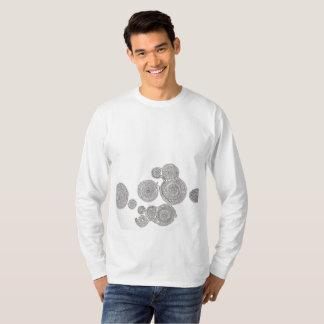 象の並んだ長袖シャツ Tシャツ