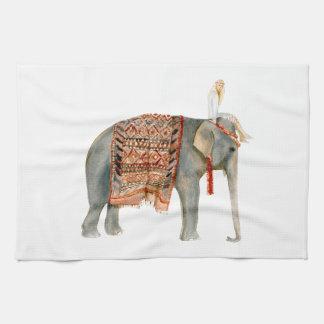 象の乗車 キッチンタオル