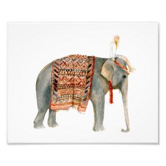 象の乗車 フォトプリント