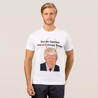 象の切札の悪魔の角を持つドナルド・トランプ Tシャツ