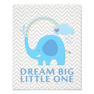象の夢の大きく小さい1つの子供部屋の芸術 フォトプリント