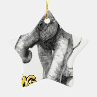 象の姿勢 セラミックオーナメント