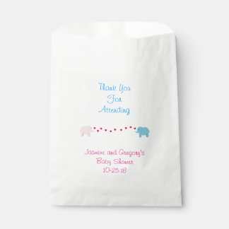 象の対の男の子及び女の子の好意のバッグ フェイバーバッグ