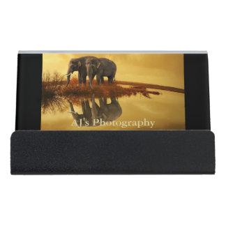 象の日没 デスク名刺ホルダー